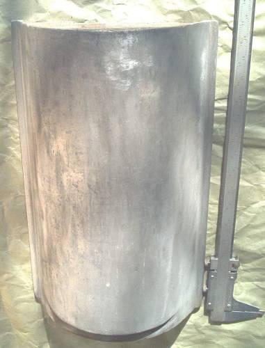 Barrel roof tile mold