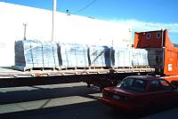 Concrete tile mold on truck for shipment